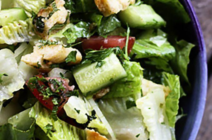 Fattoush -Crumbled Pita Chip Salad