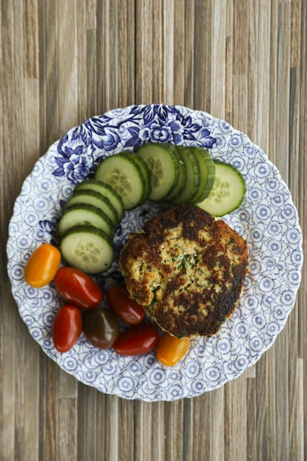 Crispy Cod Burgers with chives and Old Bay from foodiewithfamily.com