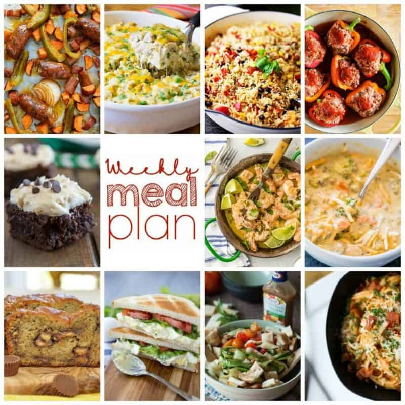 Easy Meal Plan Week 85- 11 Great Bloggers bringing you a week's worth of main dishes, side dishes, and desserts!