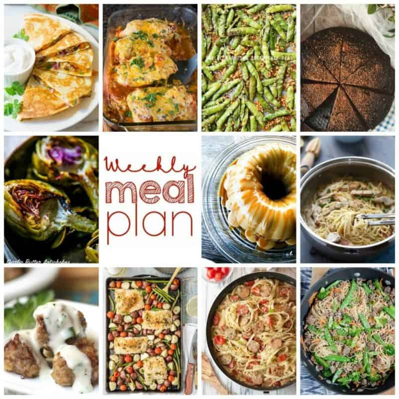 Easy Meal Plan Week 86- 11 Great Bloggers bringing you a week's worth of main dishes, side dishes, and desserts!