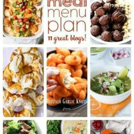 Easy Meal Plan Week 83 with 11 great bloggers bringing you a week's worth of main dishes, side dishes, and desserts!