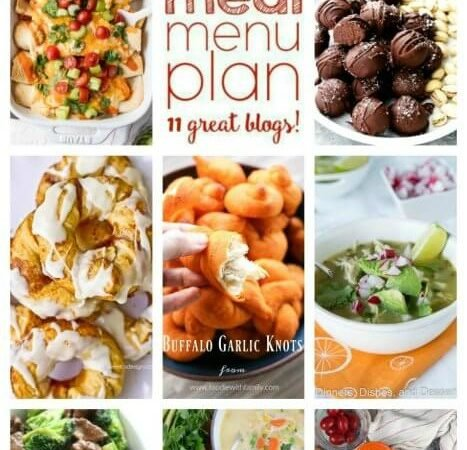 Easy Meal Plan Week 83