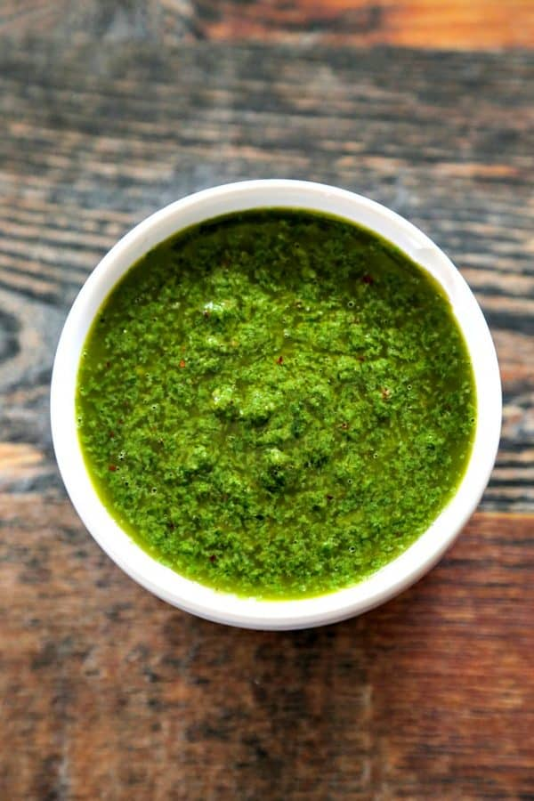 Bright, herbal, flavourful Chimichurri Chicken brings a burst of warmer-days-flavour to your table. Abundant herbs, garlic, and tender chicken make this super fast main dish a winner and a surefire addition to your regular rotation.
