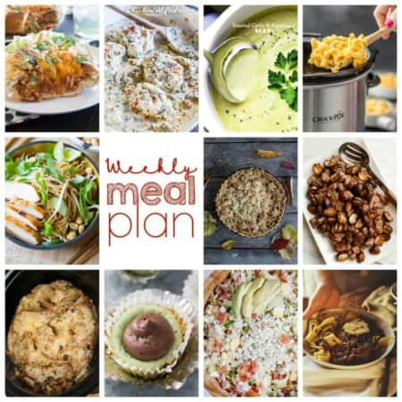 Easy Meal Plan Week 87: 11 top bloggers bringing you a week's worth of main dishes, side dishes, and desserts!