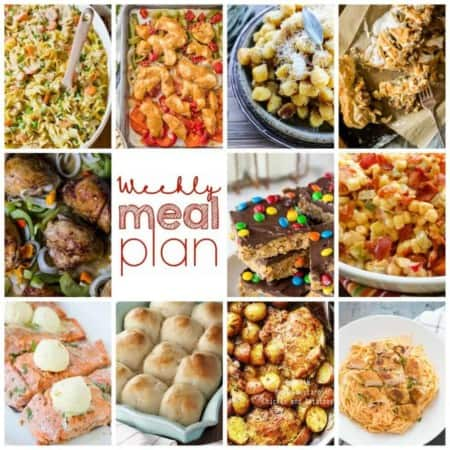 Easy Meal Plan Week 88- 11 Great bloggers bringing you a week's worth of main dishes, side dishes, and desserts!