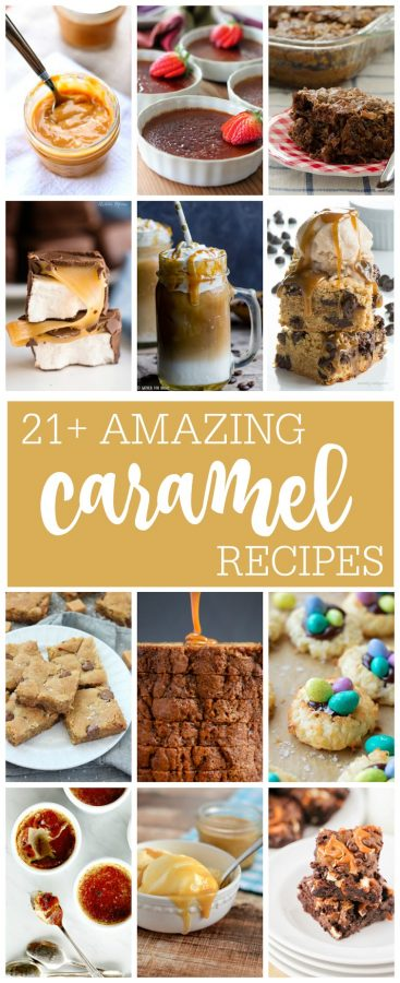 21 Amazing Caramel Recipes for #NationalCaramel Day plus Chai Creme Brulee: the thin layer of crisp burnt-sugar caramel sits on top of a velvety and smooth custard redolent with cinnamon, nutmeg, cardamom, and other spices; it tastes just like a caramel chai latte.