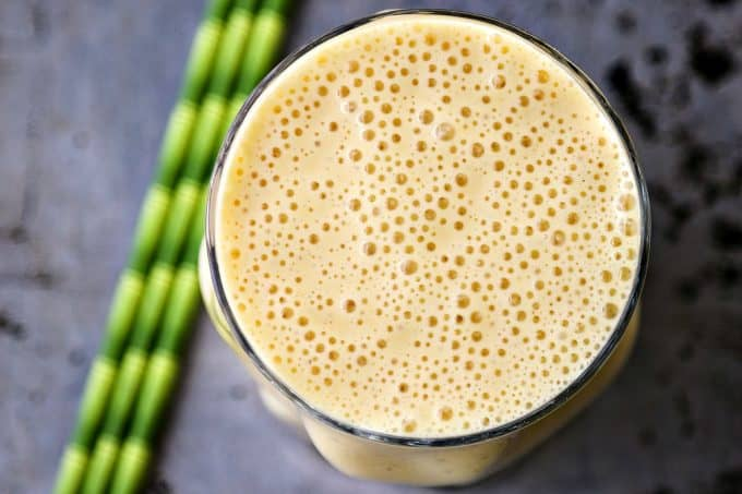 Naturally Sweetened Creamsicle Smoothies; no sugar added and still sweet as can be. This great post-workout snack is packed with protein.