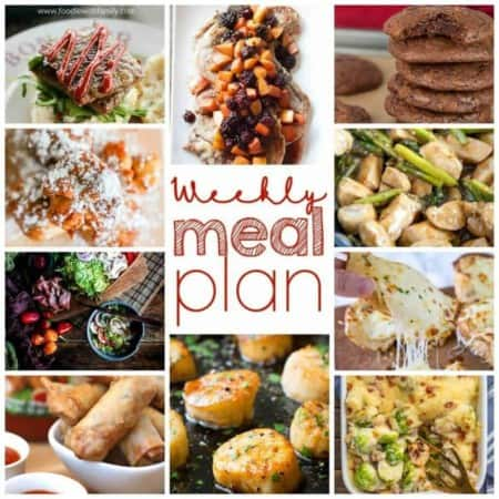 Easy Meal Plan Week 93- 11 great bloggers bringing you a week's worth of recipes including main dishes, side dishes, and desserts!