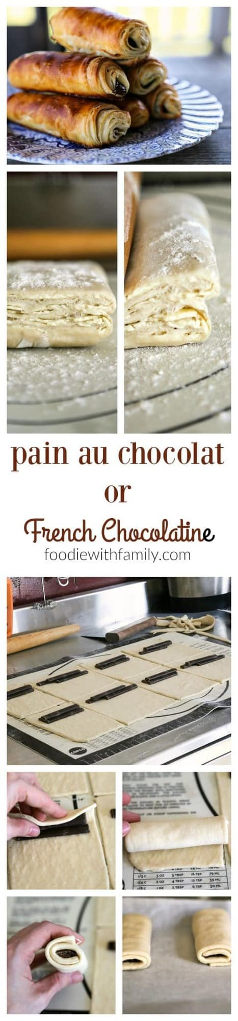 Making pain au chocolat or French chocolatines with foodiewithfamily.com