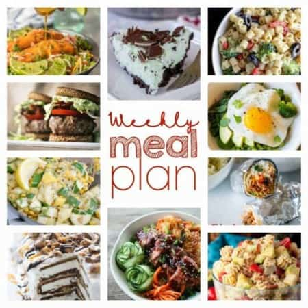 Easy Meal Plan Week 96- 11 top food bloggers bringing you a week's worth of main dishes, side dishes, and desserts.