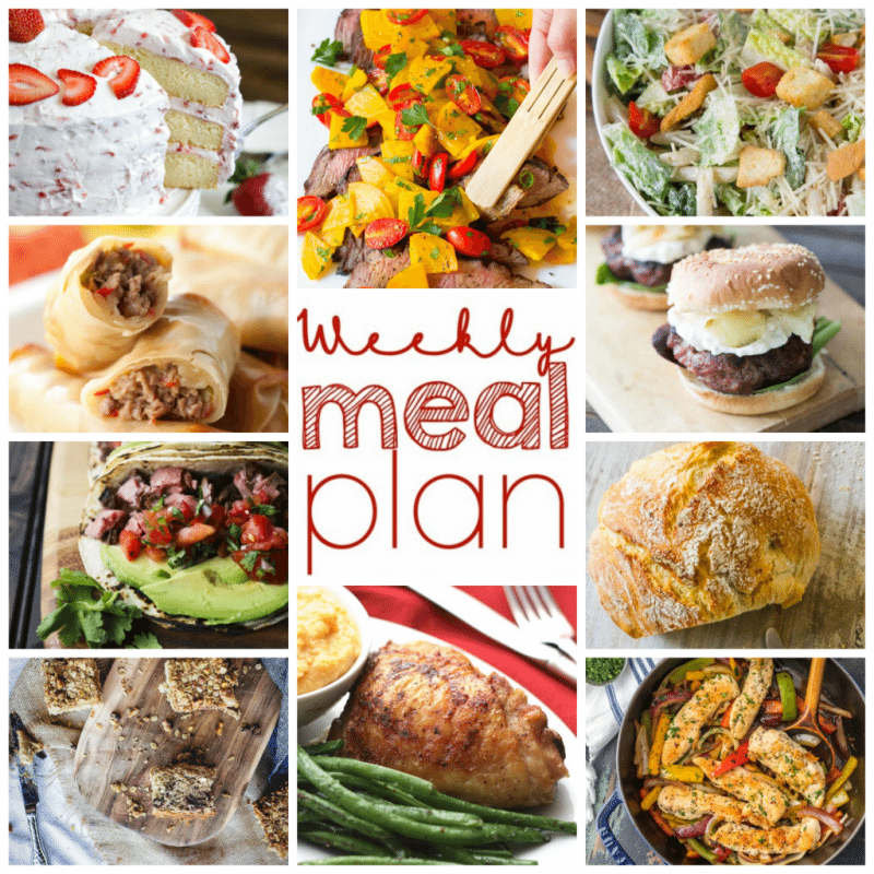 Easy Meal Plan Week 97: 10 great bloggers bringing you a week's worth of main dishes, side dishes, and desserts to make mealtime easy!