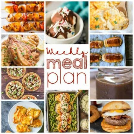 Easy Meal Plan Week 98: 10 great bloggers bringing you a week's worth of main dishes, side dishes, and desserts to make mealtime easy!