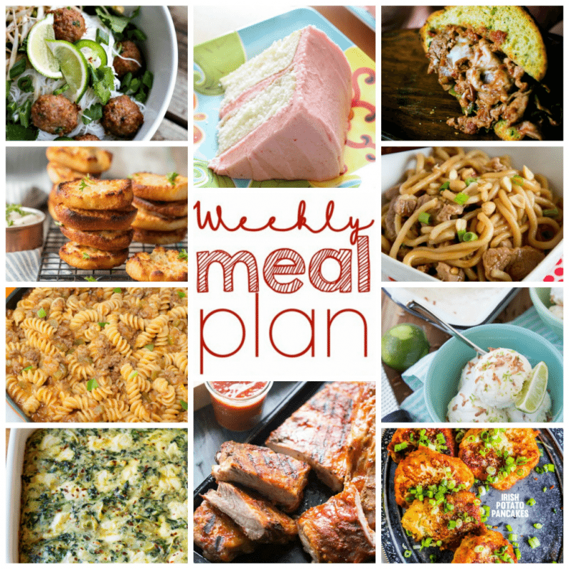 Easy Meal Plan Week 95 has 11 top food bloggers bringing you a week's worth of fantastic main dishes, side dishes, and desserts to keep you well fed.