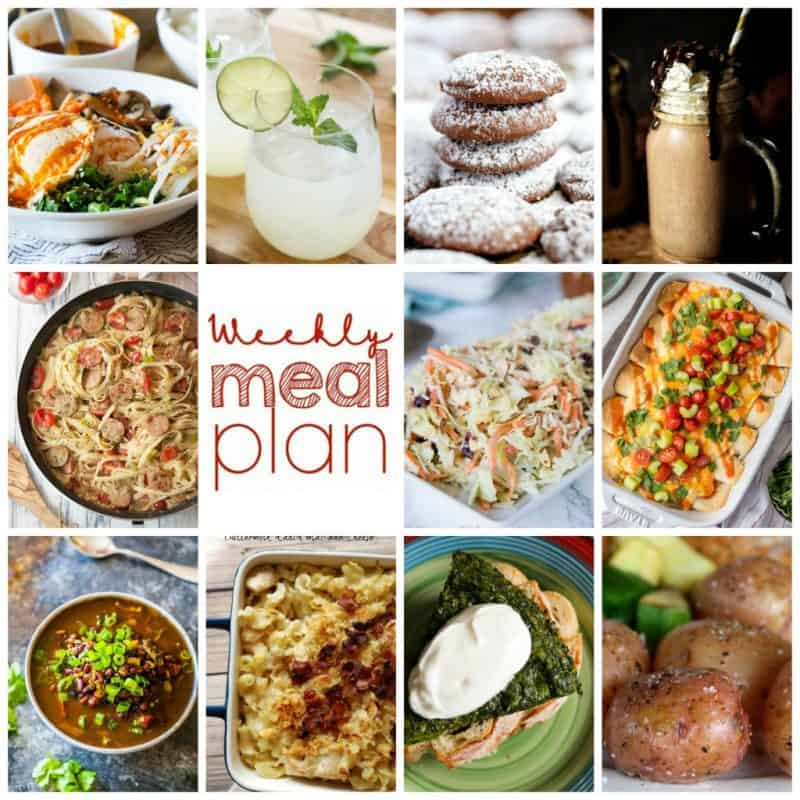 Easy Meal Plan Week 101- 10 top bloggers briging you a week's worth of main dishes, side dishes, beverages, and desserts!