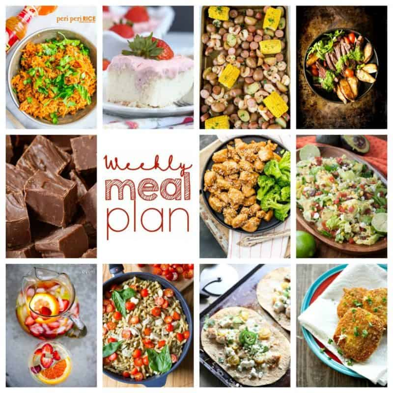 Easy Meal Plan Week 100: 10 top bloggers bringing you a week's worth of excellent main dishes, side dishes, desserts, and drinks!