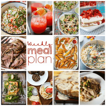 Easy Meal Plan Week 104 - 10 top bloggers bringing you a week's worth of excellent main dishes, side dishes, beverages, and desserts.