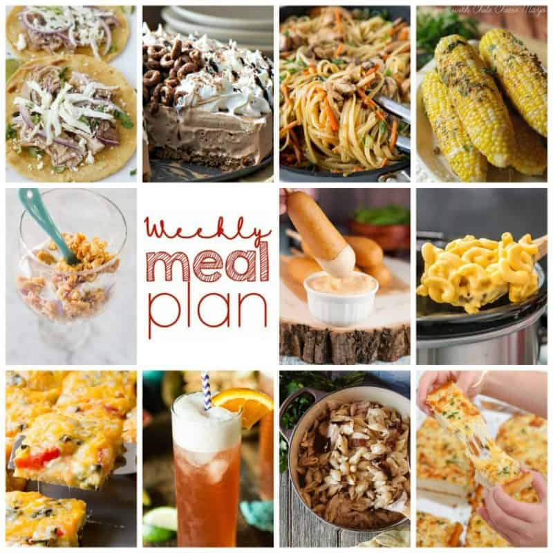 Easy Meal Plan Week 107: 10 great bloggers bringing you a wealth of main dishes, side dishes, beverages, and desserts for your week!