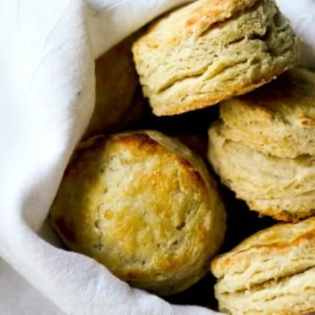 Perfect Flaky Layered Buttermilk Biscuits {tutorial} + how to freeze and bake later