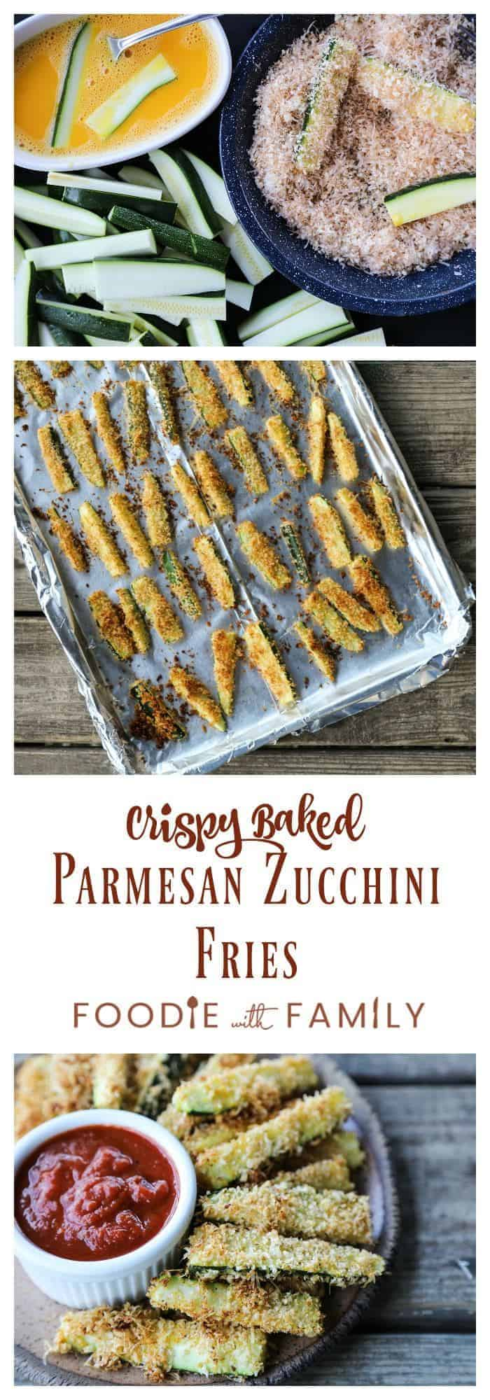Crispy, crunchy, and absoluely habit-forming in the best possible way; Crispy Baked Parmesan Zucchini Fries.