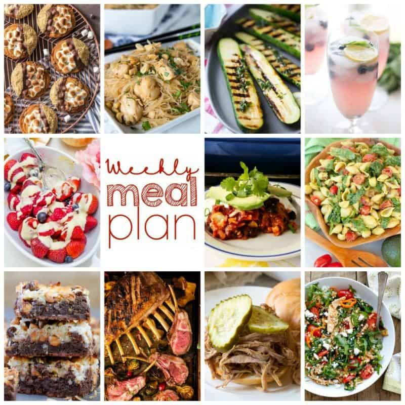 Easy Meal Plan Week 108- 10 great bloggers bringing you a week's worth of main dishes, side dishes, beverages, and desserts.