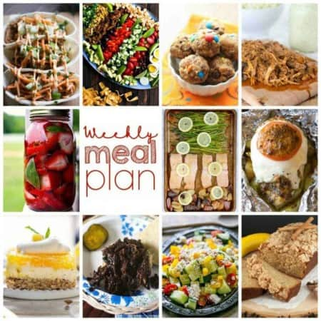 Easy Meal Plan Week 109- 10 great bloggers bringing you a week's worth of main dishes, side dishes, beverages, and desserts.