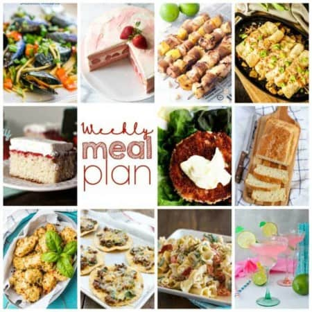 Easy Meal Plan Week 110- 10 Great Bloggers bringing you a week's worth of main dishes, side dishes, beverages, and desserts.