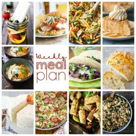 Easy Meal Plan Week 111- 10 Great Bloggers bringing you a week's worth of main dishes, side dishes, beverages, and desserts.
