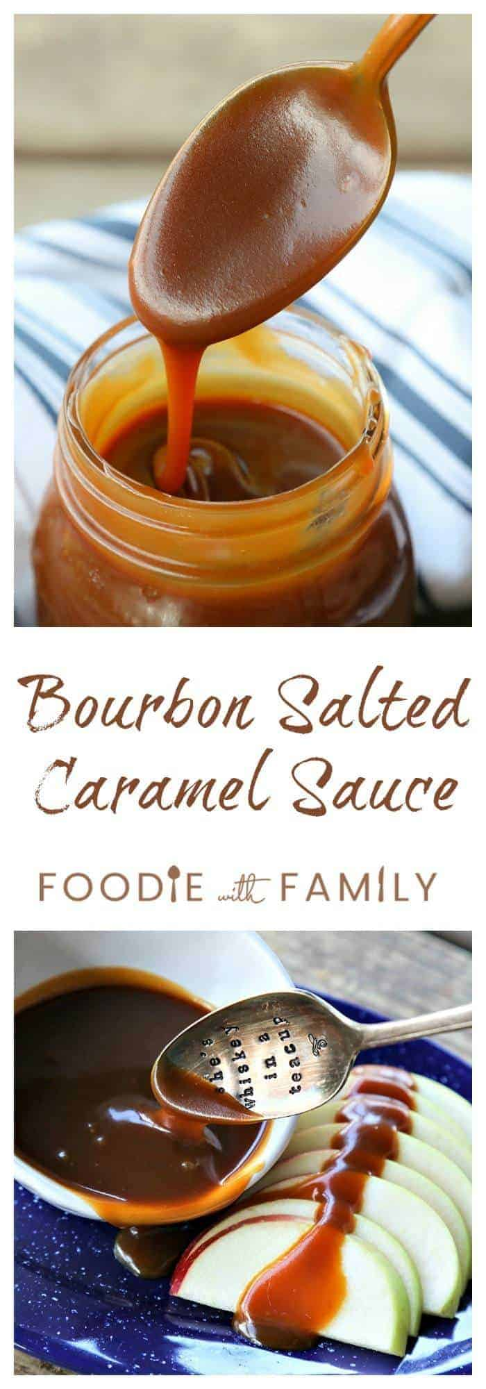 Ultra-smooth, velvety, rich, and dead simple, Bourbon Salted Caramel is sweet with a little background hint of bourbon to keep things exciting.