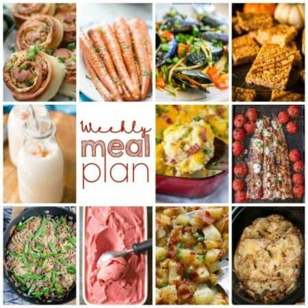 Easy Meal Plan Week 116- 10 great bloggers bringing you a week's worth of main dishes, side dishes, beverages, and desserts!