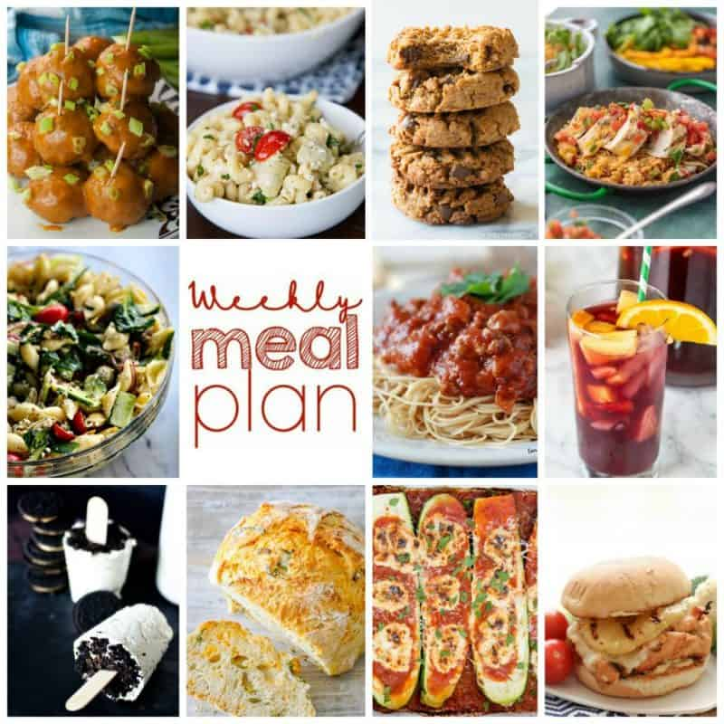 Easy Meal Plan Week 112