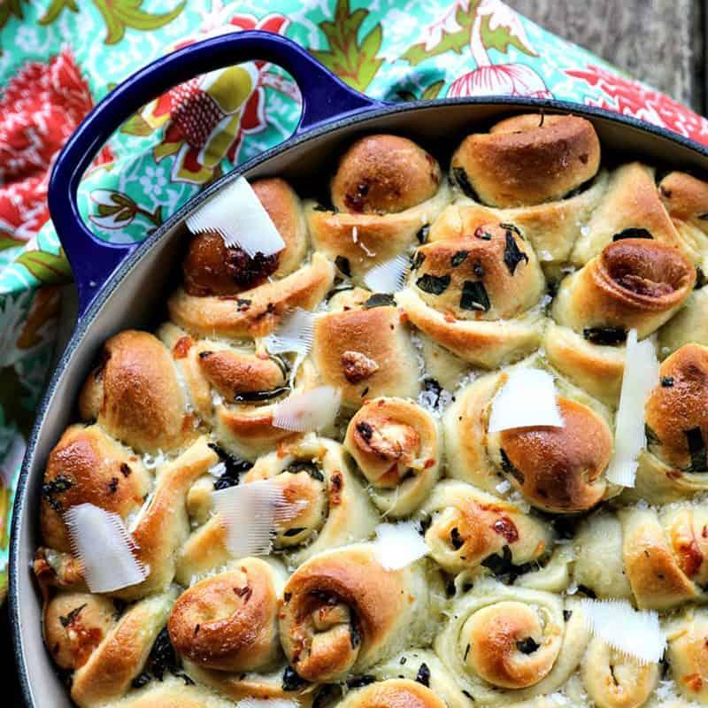 Garlic Basil Parmesan Rolls
