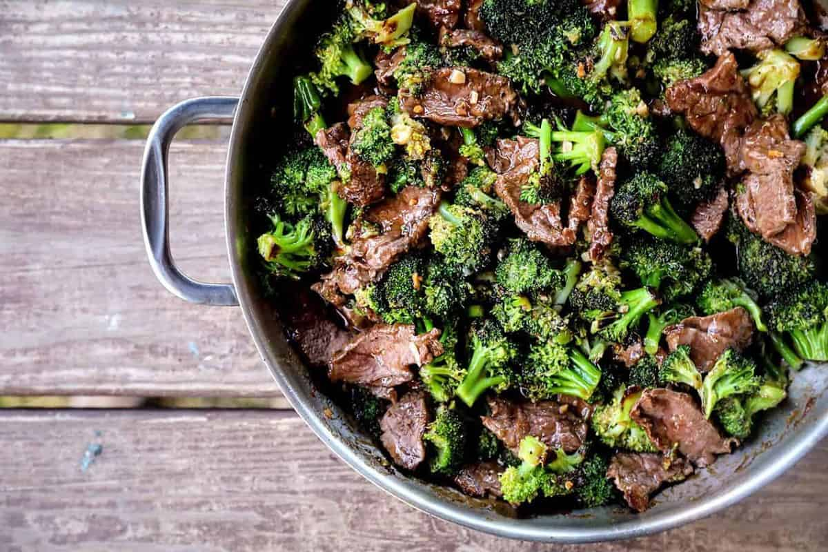 Easy Spicy Broccoli Beef is the simplest garlicky, gingery fabulous weeknight dinner!