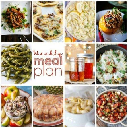 Easy Meal Plan Week 113 - 10 great bloggers bringing you a week's worth of main dishes, side dishes, beverages, and desserts.