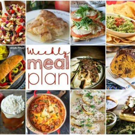 Easy Meal Plan Week 119- 10 great bloggers bringing you a week's worth of main dishes, side dishes, desserts, and beverages!