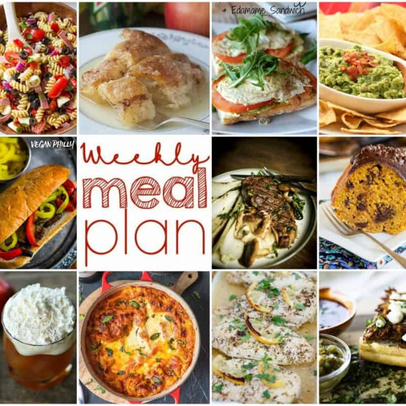 Easy Meal Plan Week 119