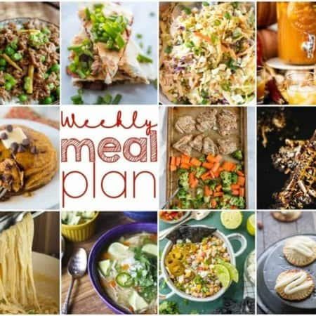 Easy Meal Plan Week 118- 10 great bloggers bringing you a week's worth of main dishes, side dishes, beverages, and desserts!