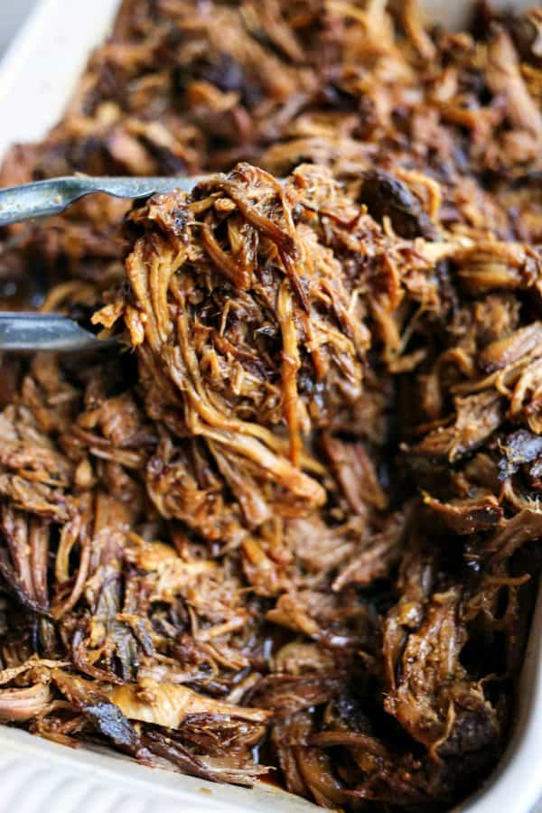 Slow-Cooker Apple Cider Pulled Pork is succulent, tender, delicious, and oh-so-easy.