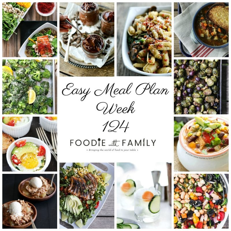 Easy Meal Plan Week 124