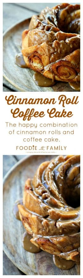 Cinnamon Roll Coffee Cake: The happy combination of cinnamon rolls and coffee cake!