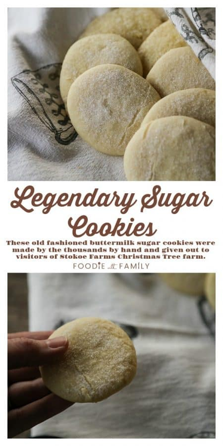 The Legendary Sugar Cookies baked by the thousands by hand from the kitchen of Martha Stokoe. These tender, fluffy, delicate, old-fashioned buttermilk sugar cookies are truly the stuff of legend.