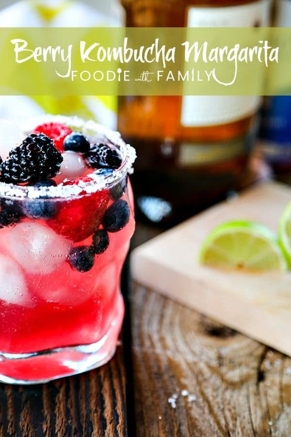 Tart and sweet, refreshing berry Kombucha stands in for most of the lime juice in this modern twist on the classic Margarita; Berry Kombucha Margaritas. With or without the traditional salted rim, you'll reach for this on hot days all summer long!
