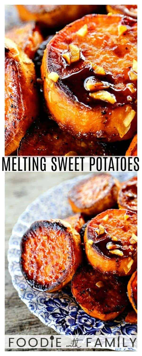 Melting Sweet Potatoes recipe: Deeply caramelized, flavourful slices of sweet potatoes so tender they yield to the edge of a spoon.