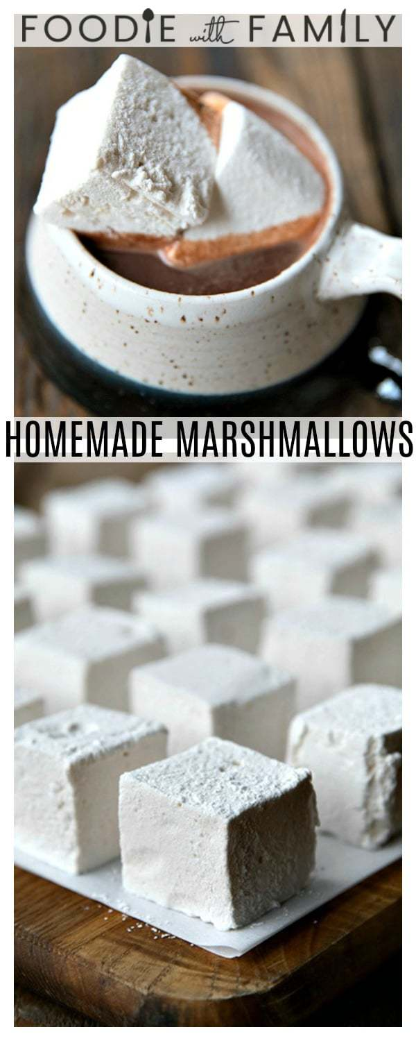 These Homemade Marshmallows are the only marshmallow you'll ever want from this day forward. Creamy, lofty, and light-as-air, you can customize the flavours any way you'd like.