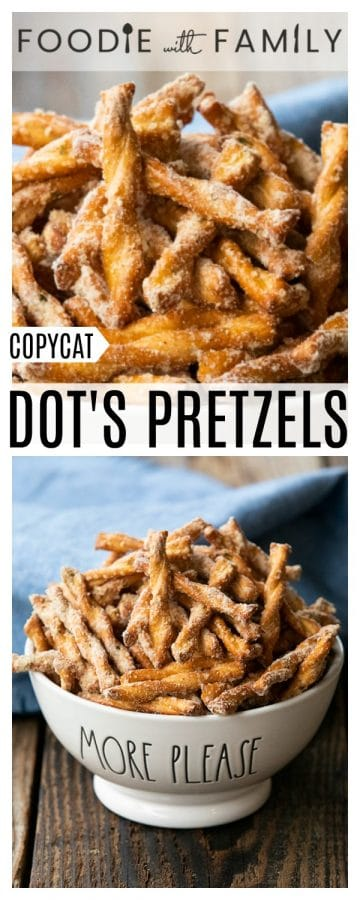 This copycat Dot's Pretzels recipe is crazy good and just like the original at a fraction of the price! Savoury, delicious, habit-forming, and oh-so-easy!