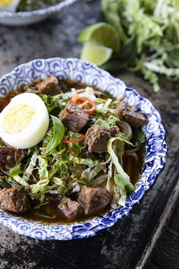 Filipino Beef Noodle Soup (Pares Mami)