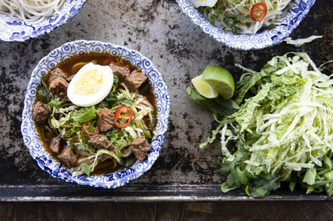 Filipino Beef Noodle Soup (Beef Pares Mami)