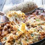 Pasta Bake loaded with meatballs, sauce, and scandalous amounts of melted cheese is exactly what you need tonight. Bonus: you don't need to pre-boil the pasta, so be ready to eat and be happy with very little work!