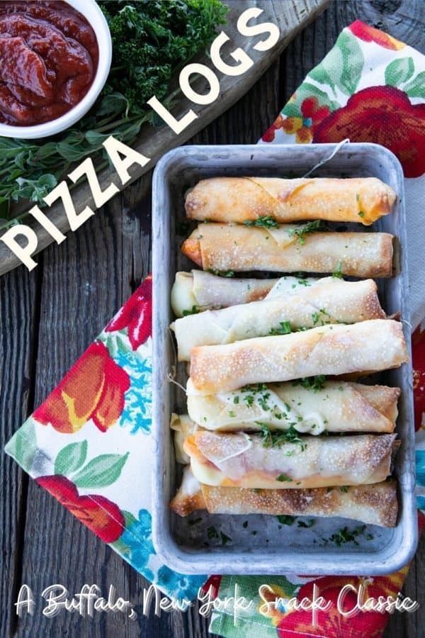 Pizza Logs are crispy, crunchy egg rolls filled with gooey, melted mozzarella cheese and garlicky pepperoni. Whether you whip these up in your air fryer, oven, or in a frying pan, you'll want these not just for game day, but all the time!