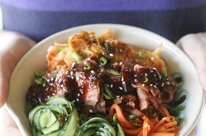Korean BBQ Steak Rice Bowls