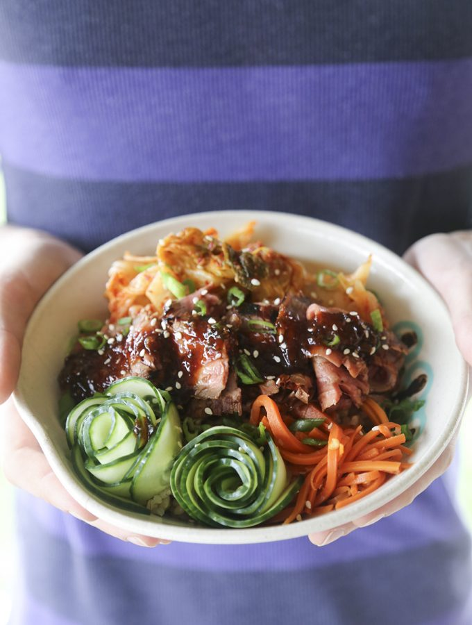 Fragrant, garlicky, simple, and fast Korean BBQ Steak Rice Bowls for a speedy dinner win!